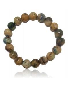 Bracelet jaspe orbiculaire pierres boules 10 mm