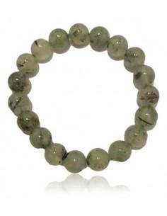 Bracelet prehnite pierres boules 10 mm