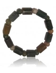 Bracelet agate indienne perles cubiques