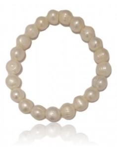 Bracelet perles d'eau douce 10 mm