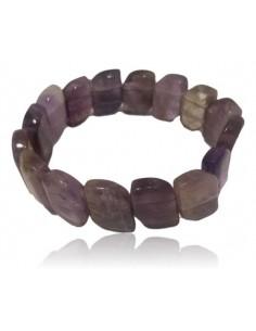 Bracelet améthyste pierres relief