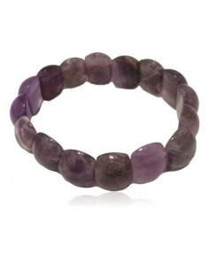 Bracelet améthyste pierre ronde