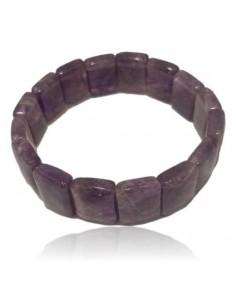Bracelet améthyste pierres carrées