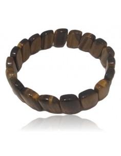 Bracelet oeil de tigre pierres reflets