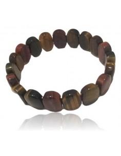 Bracelet oeil de tigre/faucon/taureau pierres ovales