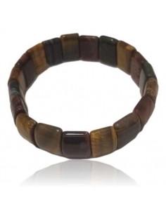 Bracelet oeil de tigre/ taureau/ faucon pierres rectangles