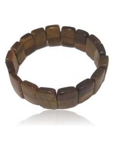 Bracelet oeil de tigre pierres rectangles