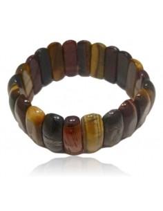 Bracelet oeil de tigre/boeuf/faucon pierres manchette large