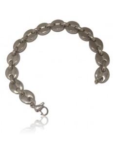 Bracelet maille grain de café acier inoxydable