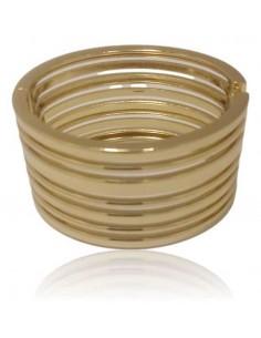 Bracelet manchette métal large multi-rangs