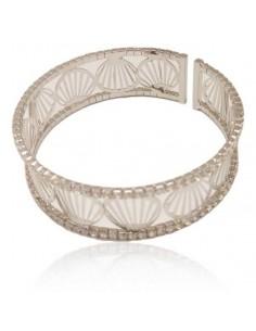 Bracelet manchette motif coquillages filigranes