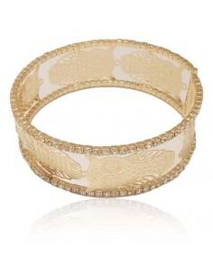 Bracelet manchette hiboux motif filigranes