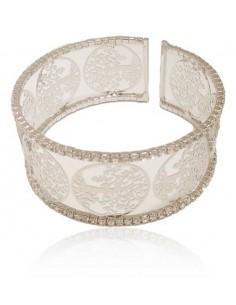 Bracelet manchette arbre de vie motif filigranes