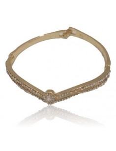 Bracelet jonc forme V serti de strass