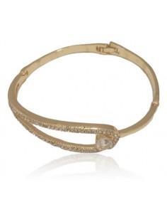 Bracelet jonc motif boucle serti de strass