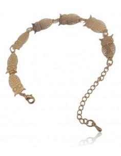 Bracelet motifs hiboux filigrane