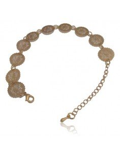 Bracelet fantaisie pampilles motif fleurs