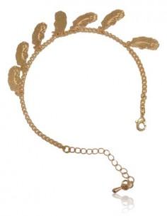 Bracelet fantaisie pampilles plumes