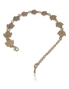 Bracelet fantaisie pampilles feuilles d'érable