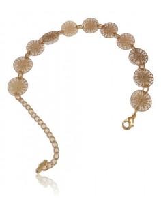 Bracelet fantaisie avec pampilles motifs géométriques filigranes