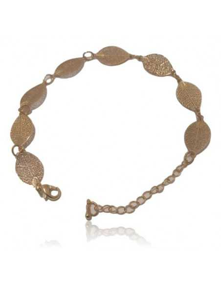 Bracelet fantaisie feuilles filigranes