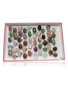 50 Bagues en pierres naturelles
