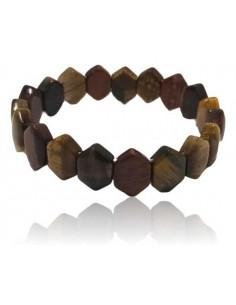 Bracelet pierres oeil de tigre/boeuf/faucon dentelées