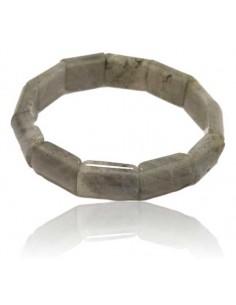 Bracelet labradorite pierres rectangles rigides
