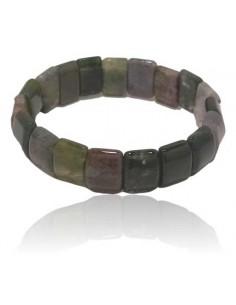 Bracelet agate indienne pierres rectangles