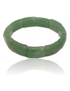 Bracelet aventurine pierres rectangles rigides