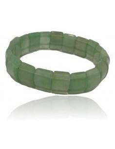 Bracelet aventurine pierres carrées
