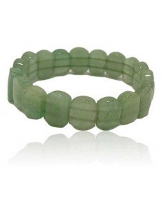 Bracelet aventurine pierres ovales plates