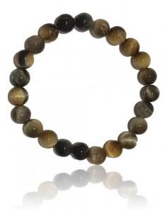 Bracelet pierre oeil de faucon haute qualité boules 8 mm