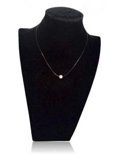 12 colliers pendentifs perle irisée sur fil transparent fermoir acier