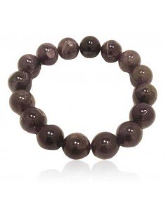 Bracelet améthyste pierres boules 12 mm
