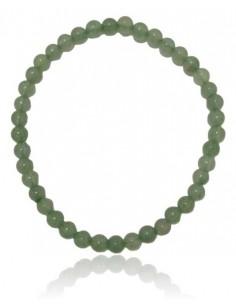 Bracelet aventurine pierres boules 4 mm