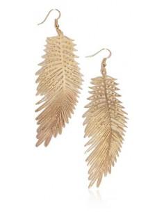 Boucles d'oreilles longues feuilles de palmier