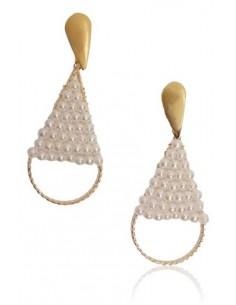 Boucles d'oreilles gouttes perlées tendance