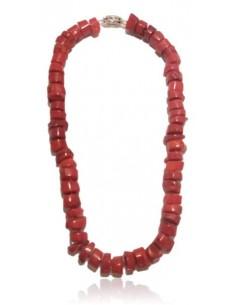 Collier corail de synthèse perles brutes