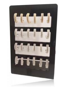 12 paires de créoles 3 lignes de perles