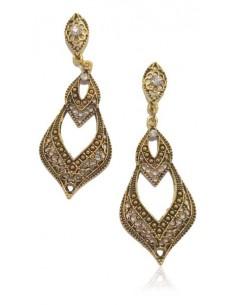 Boucles d'oreilles orientale métal vieilli baroque
