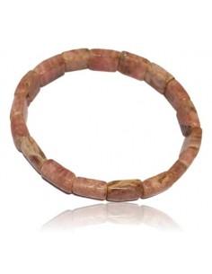 Bracelet rhodochrosite haut de gamme rectangles 10 mm