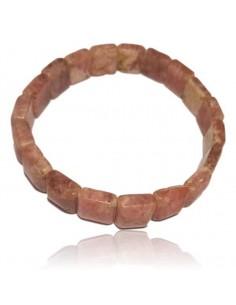 Bracelet rhodochrosite haut de gamme carrés 10 mm