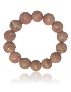 Bracelet rhodochrosite haut de gamme pierres boules 15 mm