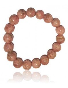 Bracelet rhodochrosite haut de gamme pierres boules 12 mm