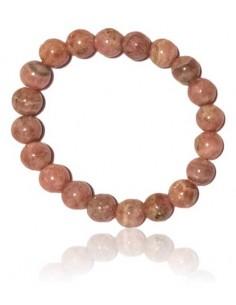 Bracelet rhodochrosite haut de gamme pierres boules 10 mm