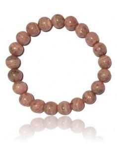 Bracelet rhodochrosite haut de gamme pierres boules 8 mm