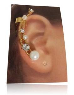 Bijoux d'oreilles dégradé de perles et strass