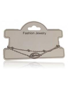 Bracelet fantaisie pendentif ovale avec inscription