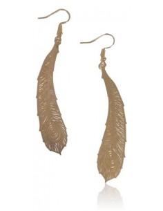 Boucles d'oreilles plumes ethniques filigranes